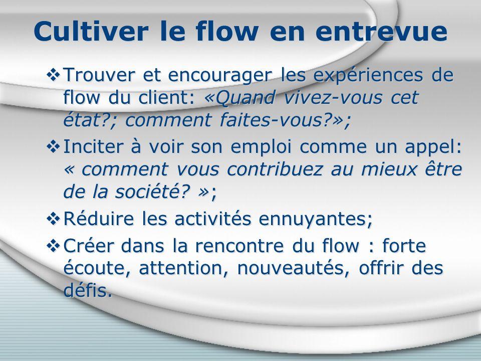 Cultiver le flow en entrevue