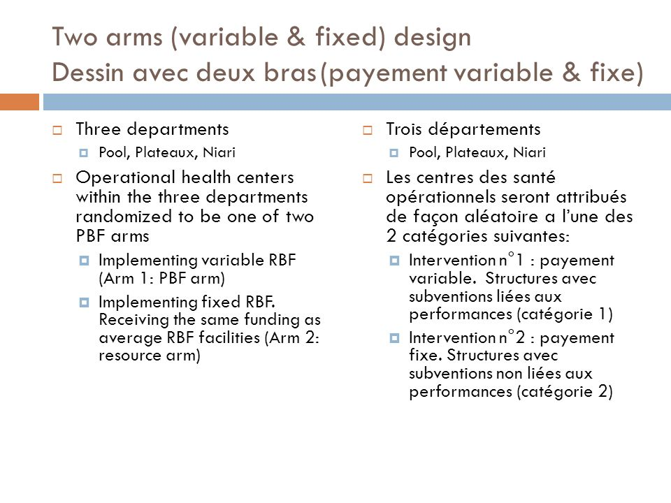 Two arms (variable & fixed) design Dessin avec deux bras