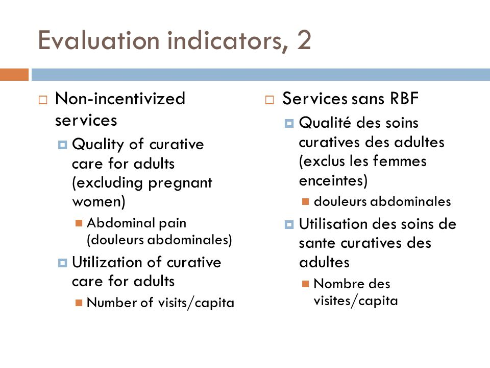 Evaluation indicators, 2