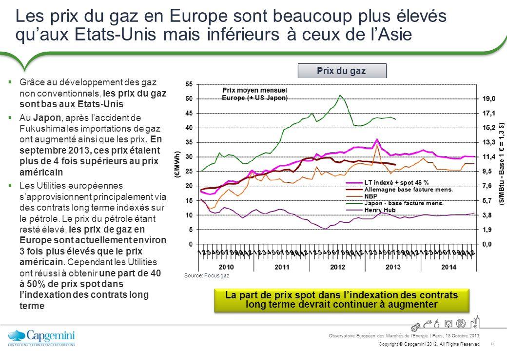 Les prix du gaz en Europe sont beaucoup plus élevés qu'aux Etats-Unis mais inférieurs à ceux de l'Asie
