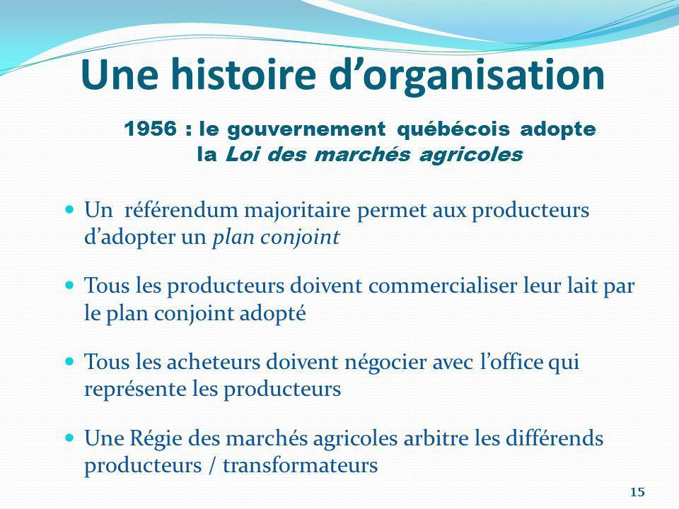 Une histoire d'organisation