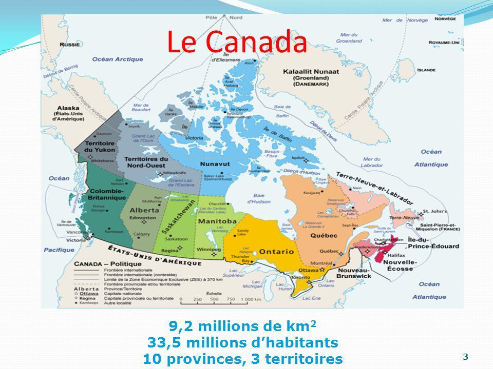 10 provinces, 3 territoires