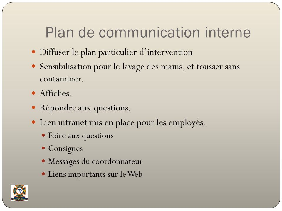 Plan de communication interne