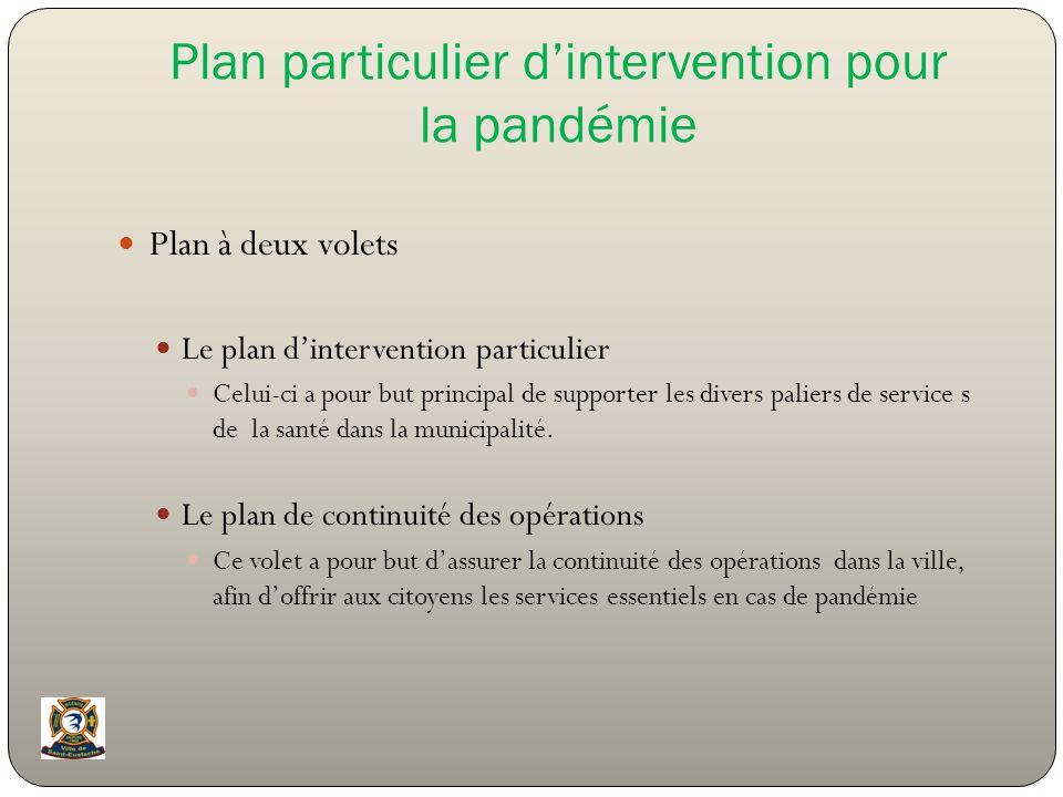 Plan particulier d'intervention pour la pandémie
