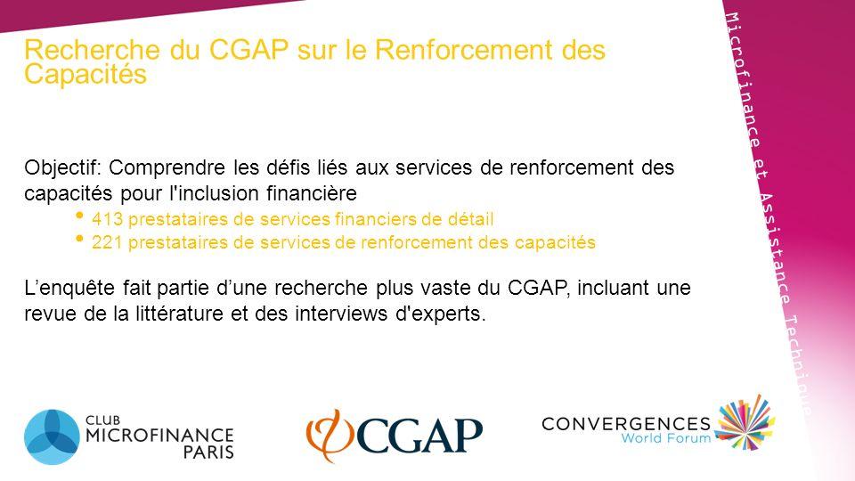 Recherche du CGAP sur le Renforcement des Capacités