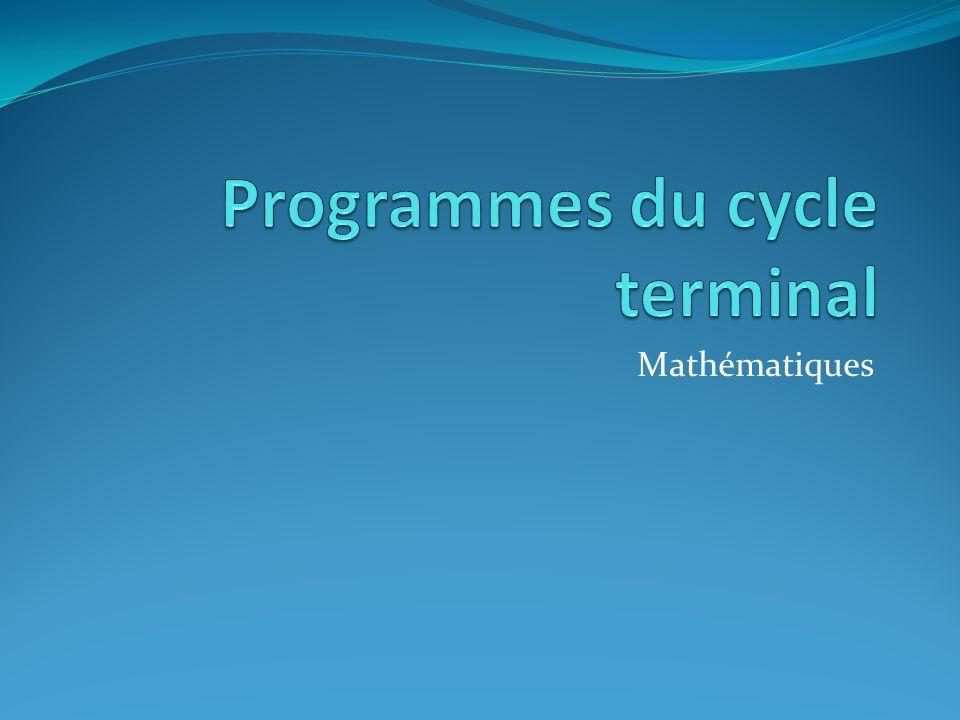 Programmes du cycle terminal