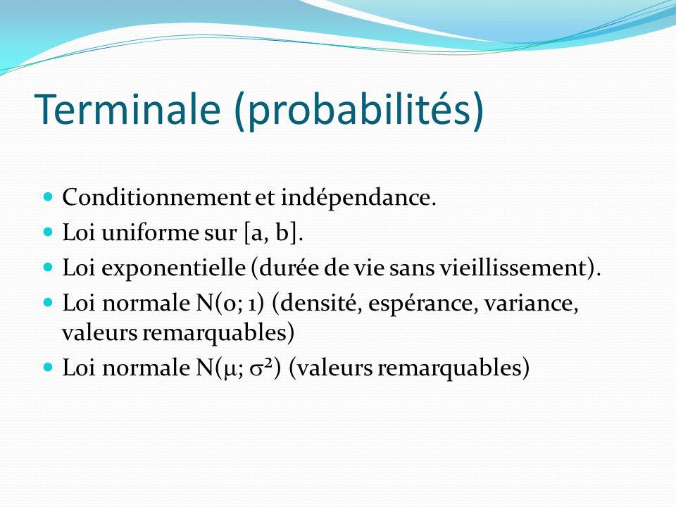 Terminale (probabilités)