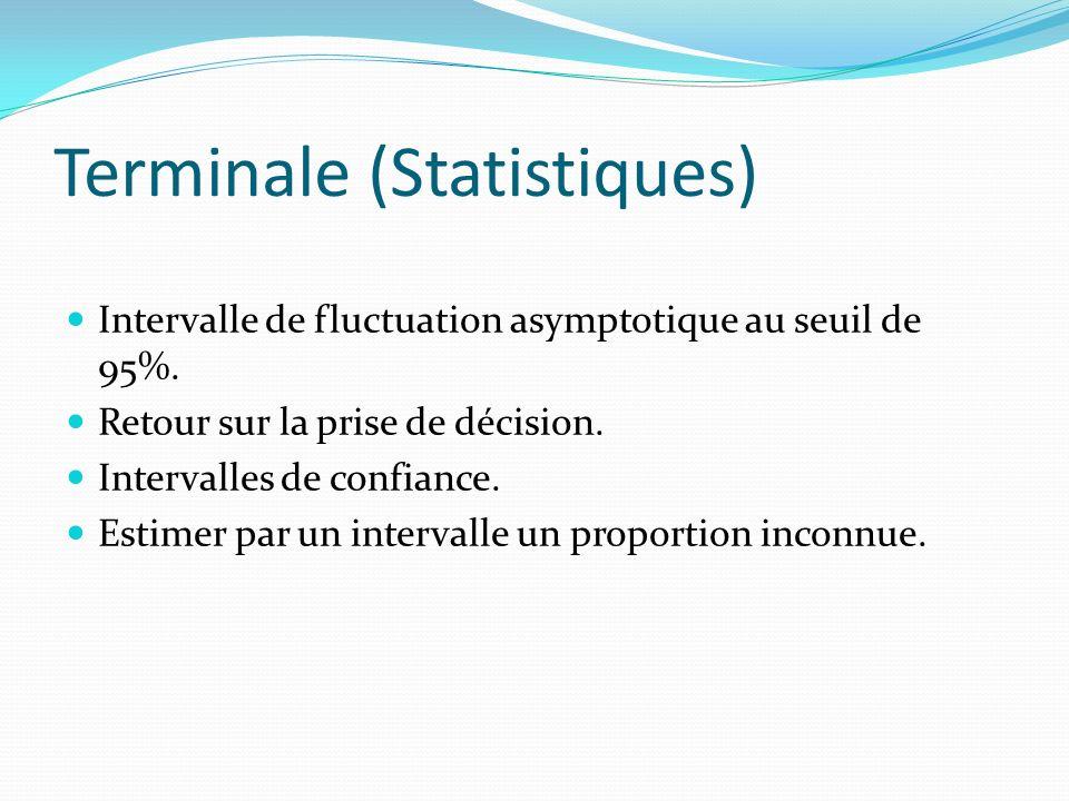 Terminale (Statistiques)