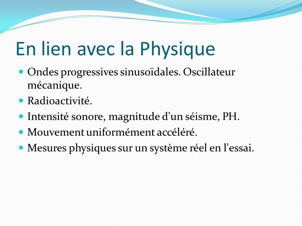 En lien avec la Physique