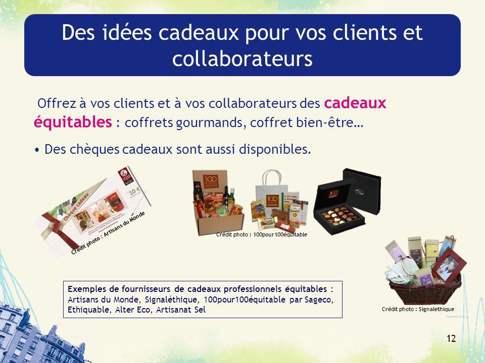 Des idées cadeaux pour vos clients et collaborateurs