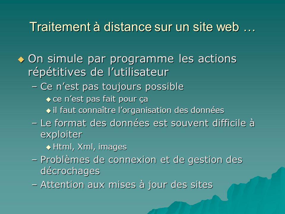 Traitement à distance sur un site web …