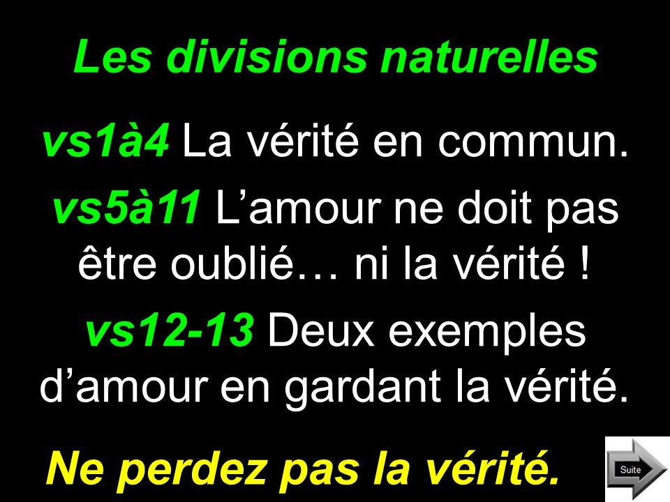 Les divisions naturelles