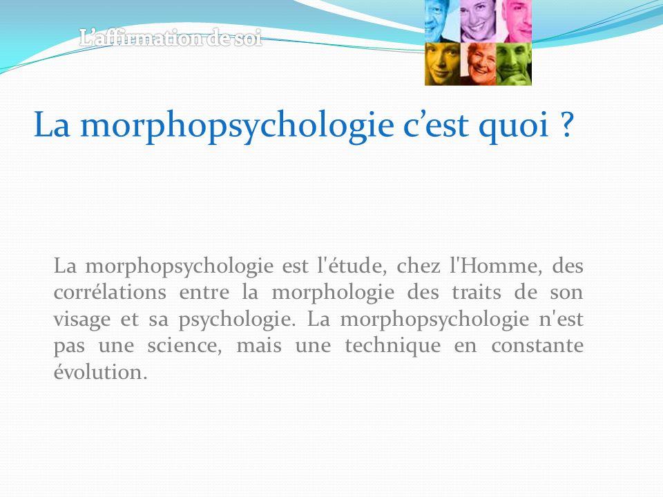 La morphopsychologie c'est quoi