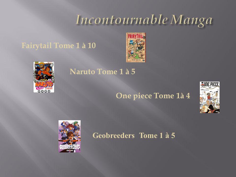 Incontournable Manga Naruto Tome 1 à 5 One piece Tome 1à 4