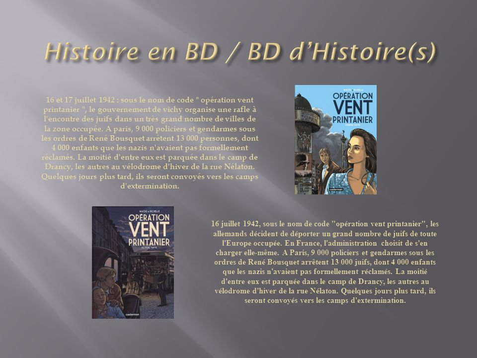 Histoire en BD / BD d'Histoire(s)