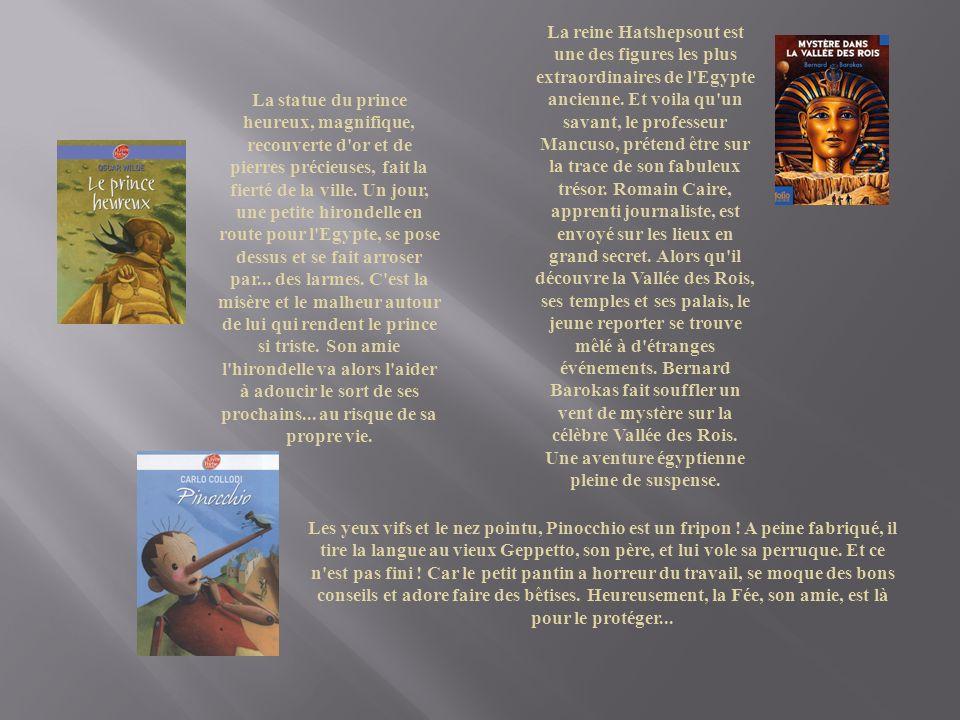 La reine Hatshepsout est une des figures les plus extraordinaires de l Egypte ancienne. Et voila qu un savant, le professeur Mancuso, prétend être sur la trace de son fabuleux trésor. Romain Caire, apprenti journaliste, est envoyé sur les lieux en grand secret. Alors qu il découvre la Vallée des Rois, ses temples et ses palais, le jeune reporter se trouve mêlé à d étranges événements. Bernard Barokas fait souffler un vent de mystère sur la célèbre Vallée des Rois. Une aventure égyptienne pleine de suspense.