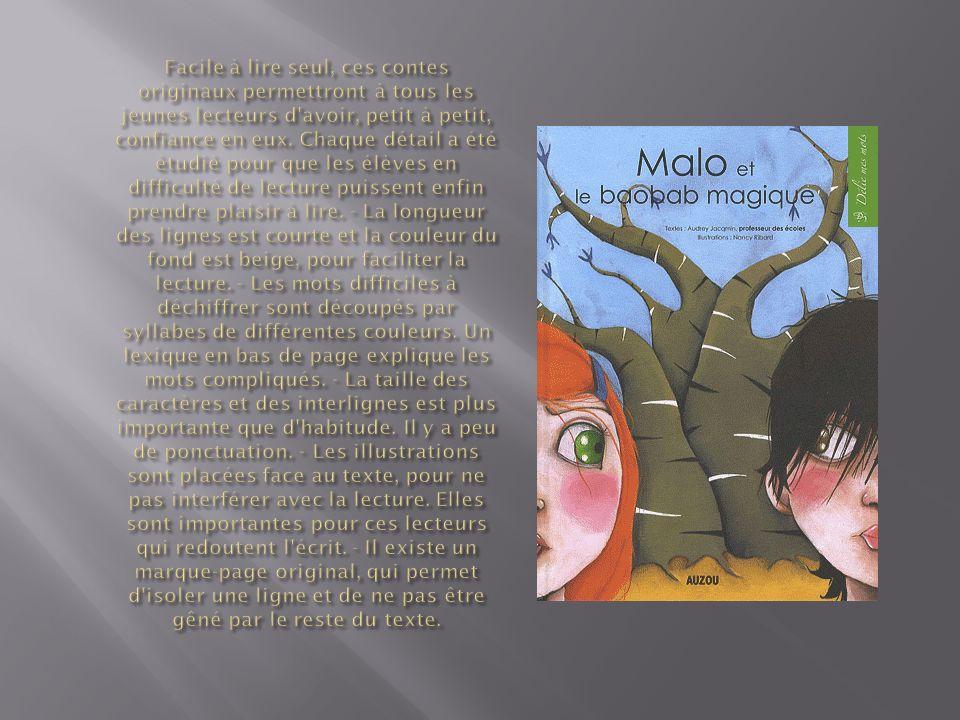 Facile à lire seul, ces contes originaux permettront à tous les jeunes lecteurs d avoir, petit à petit, confiance en eux.