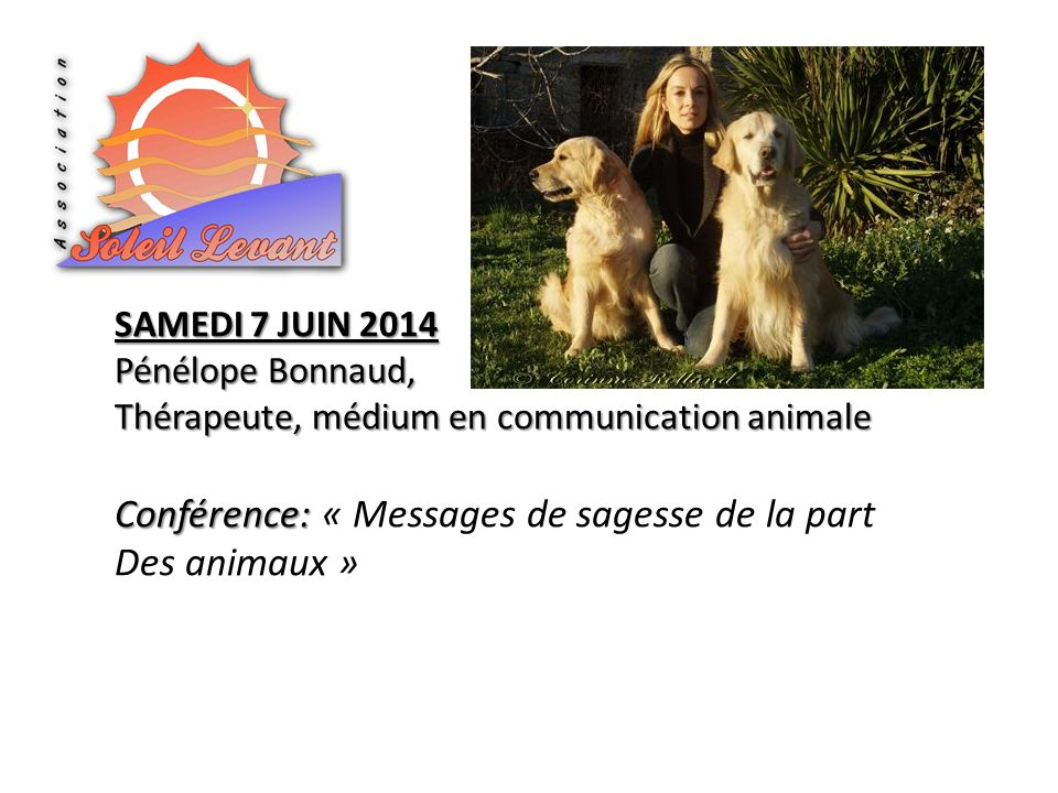 Conférence: « Messages de sagesse de la part Des animaux »