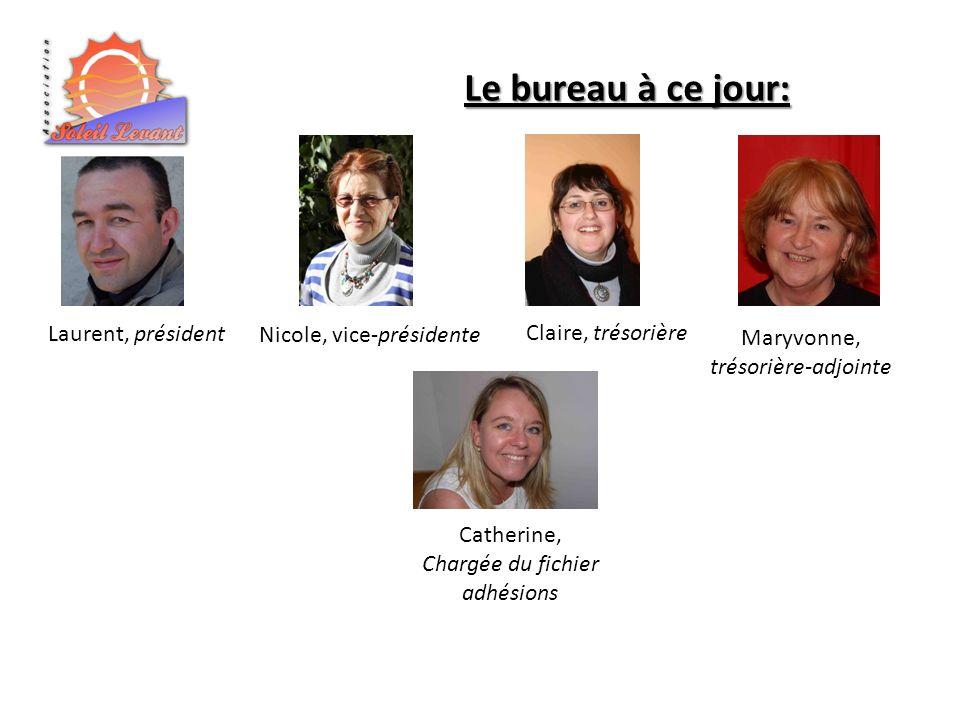 Le bureau à ce jour: Laurent, président Nicole, vice-présidente