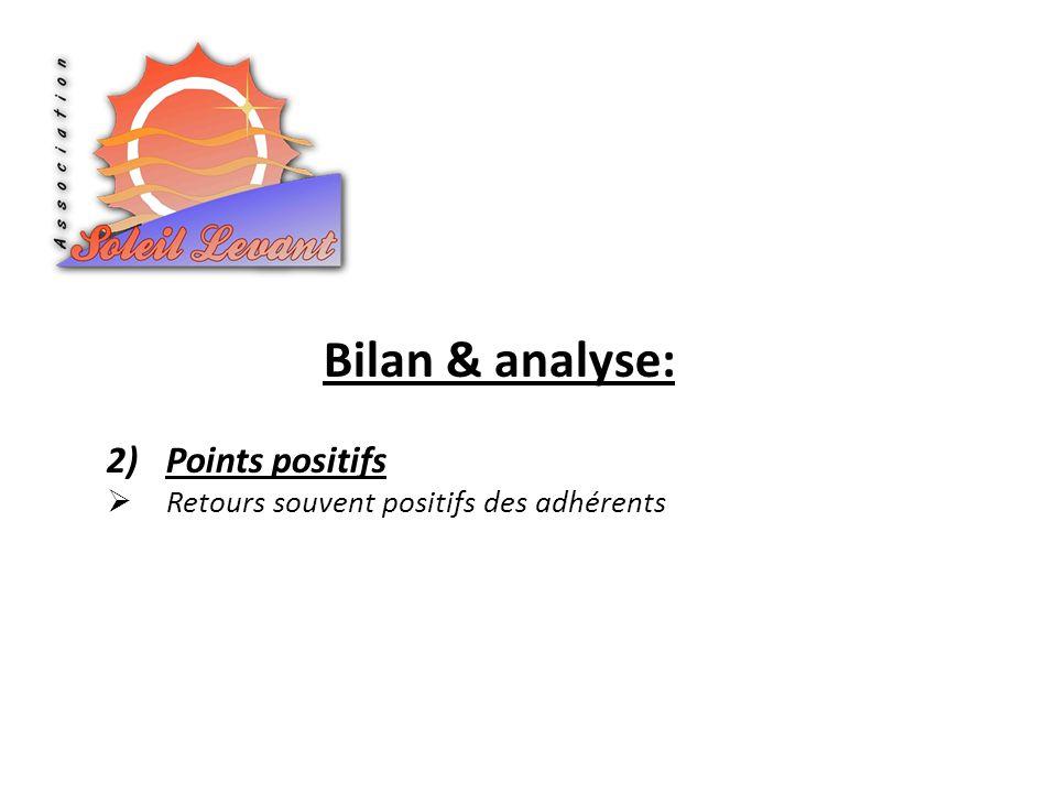 Bilan & analyse: Points positifs