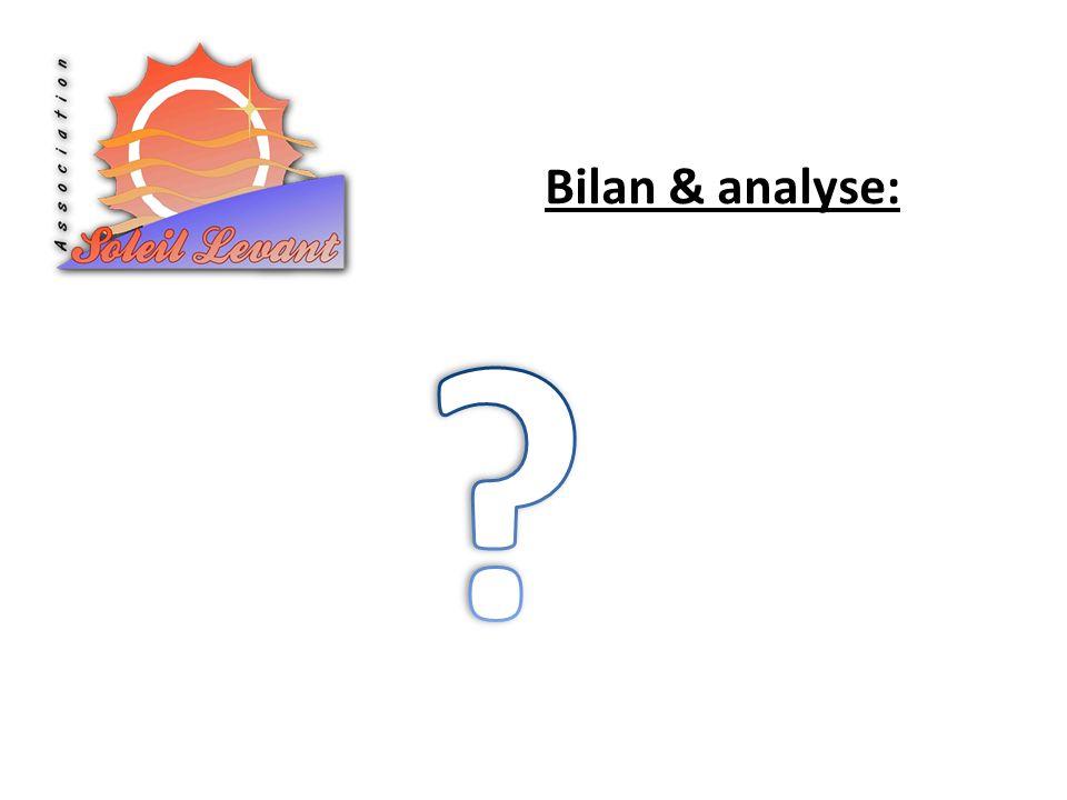 Bilan & analyse: