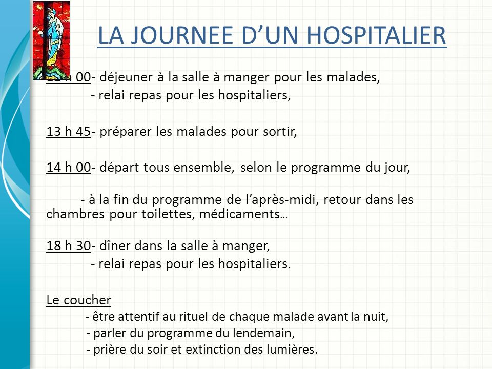 LA JOURNEE D'UN HOSPITALIER