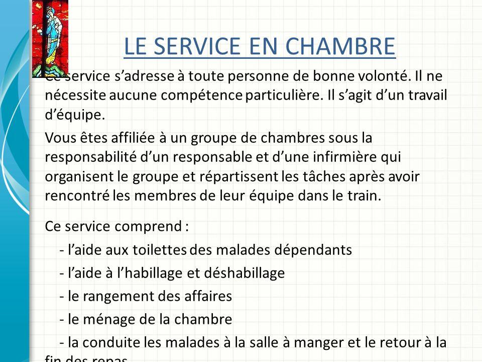 LE SERVICE EN CHAMBRE