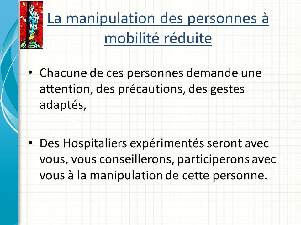 La manipulation des personnes à mobilité réduite