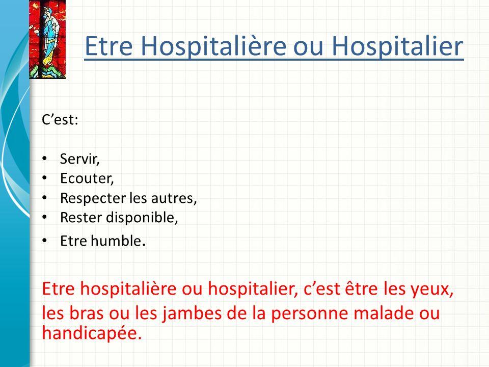 Etre Hospitalière ou Hospitalier