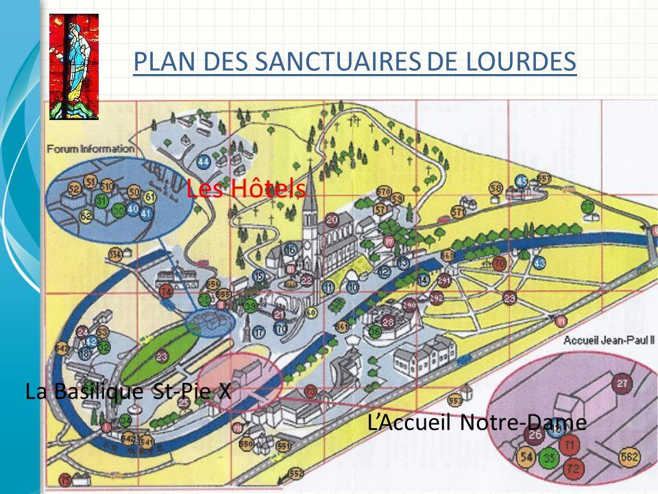 PLAN DES SANCTUAIRES DE LOURDES