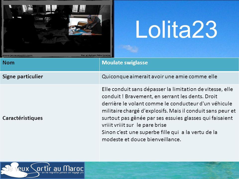 Lolita23 Nom Moulate swiglasse Signe particulier