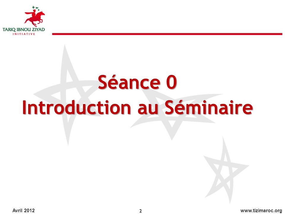 Introduction au Séminaire