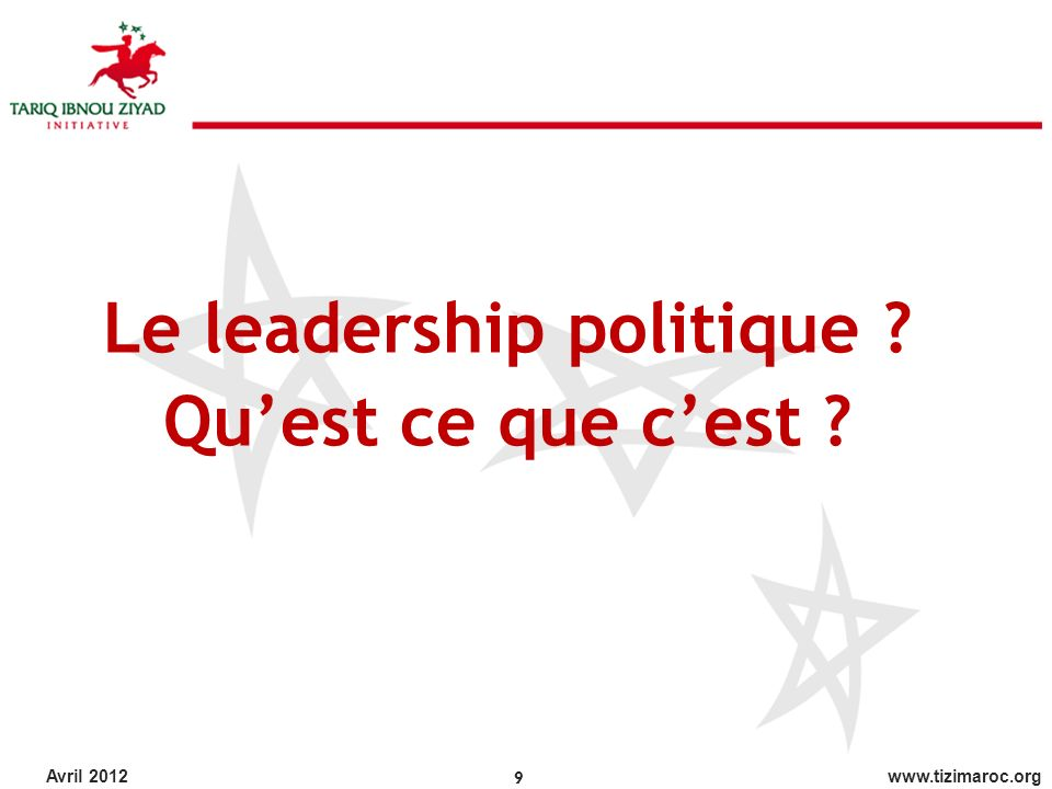 Le leadership politique