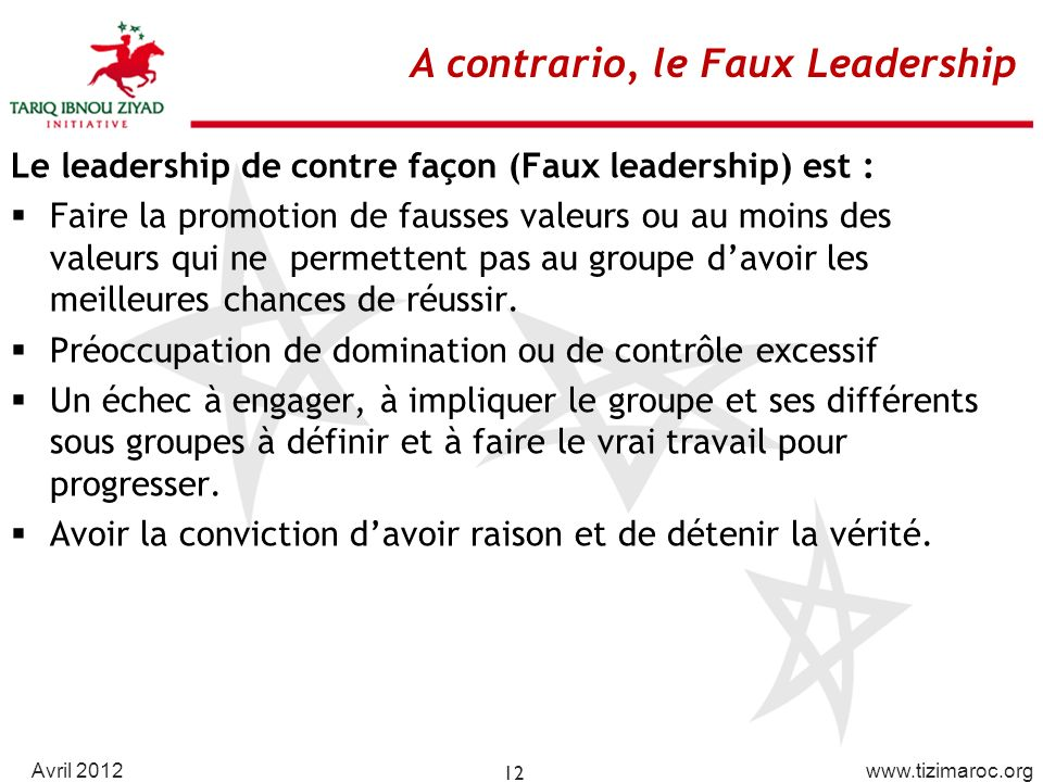 A contrario, le Faux Leadership