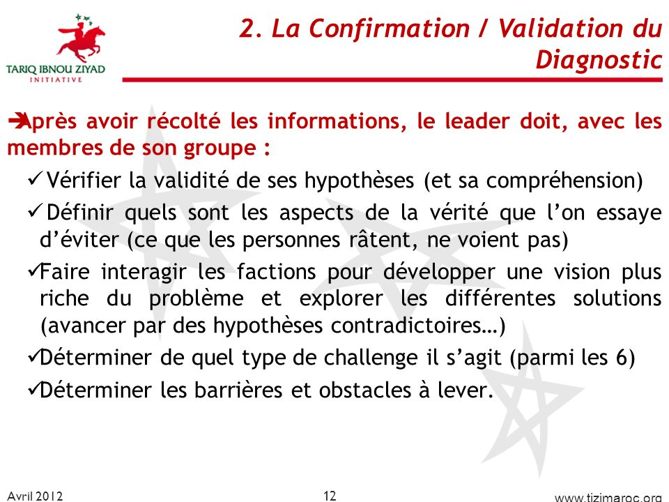 2. La Confirmation / Validation du Diagnostic