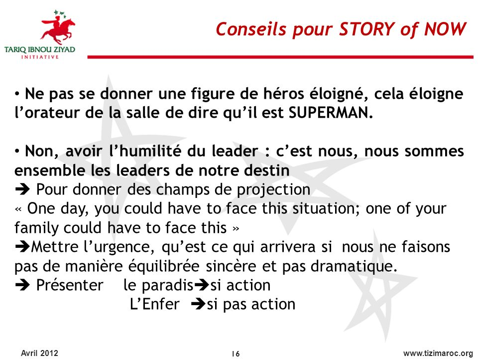 Conseils pour STORY of NOW