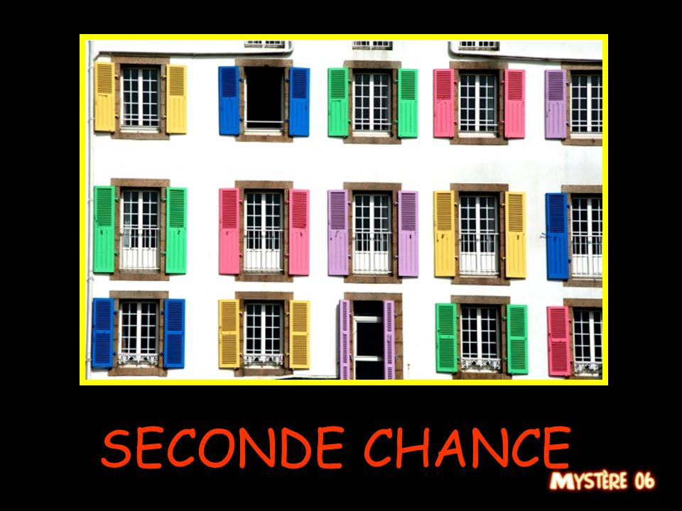 SECONDE CHANCE