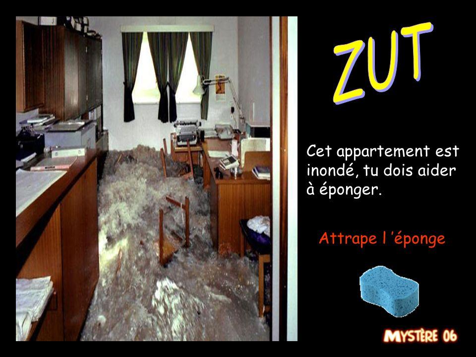 ZUT Cet appartement est inondé, tu dois aider à éponger.