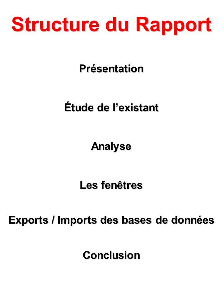 Exports / Imports des bases de données