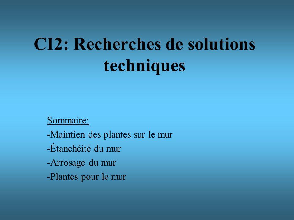 CI2: Recherches de solutions techniques