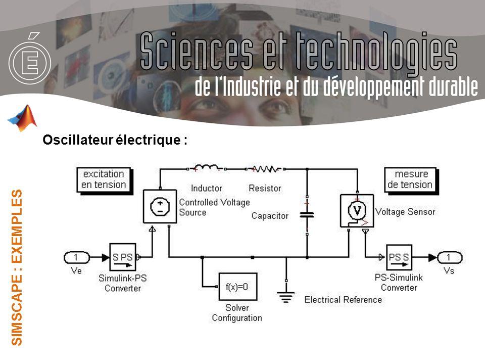 Oscillateur électrique :