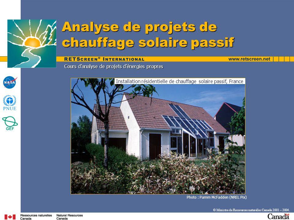 Installation résidentielle de chauffage solaire passif, France