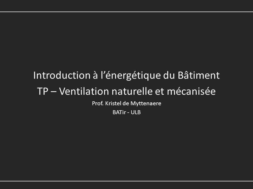 Introduction à l'énergétique du Bâtiment