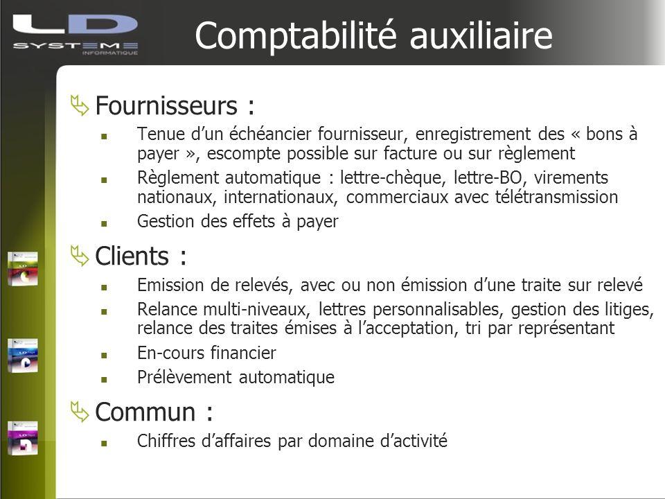 Comptabilité auxiliaire