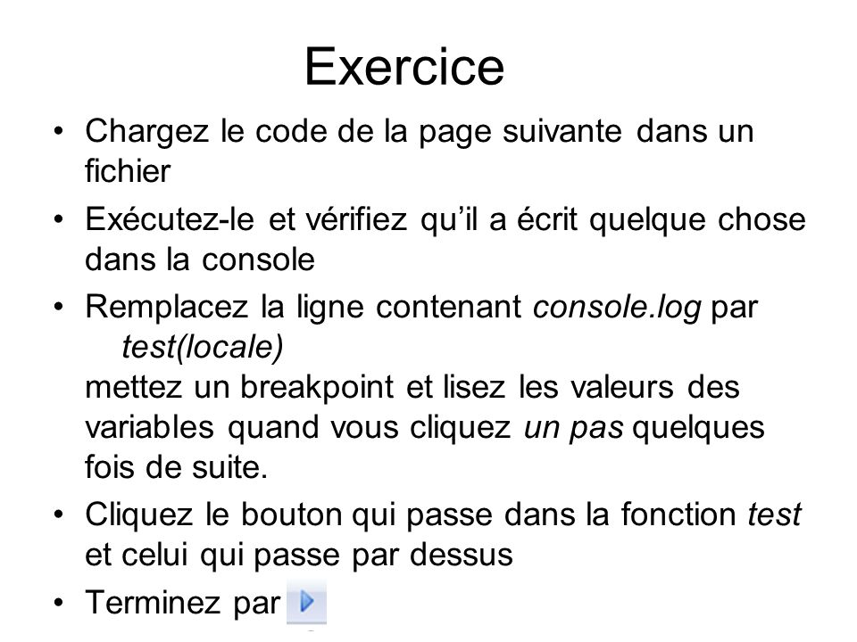 Exercice Chargez le code de la page suivante dans un fichier