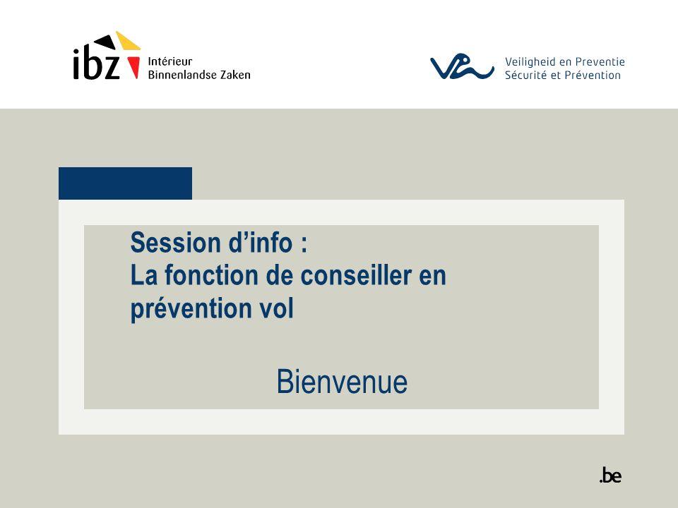 Session d'info : La fonction de conseiller en prévention vol