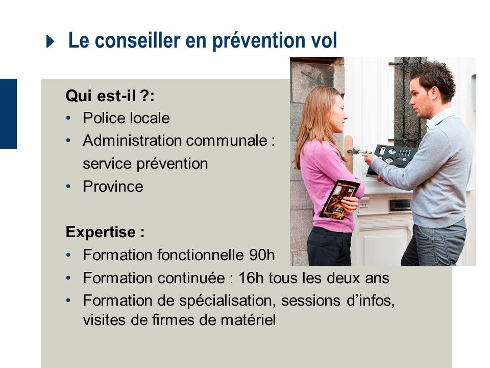 Le conseiller en prévention vol