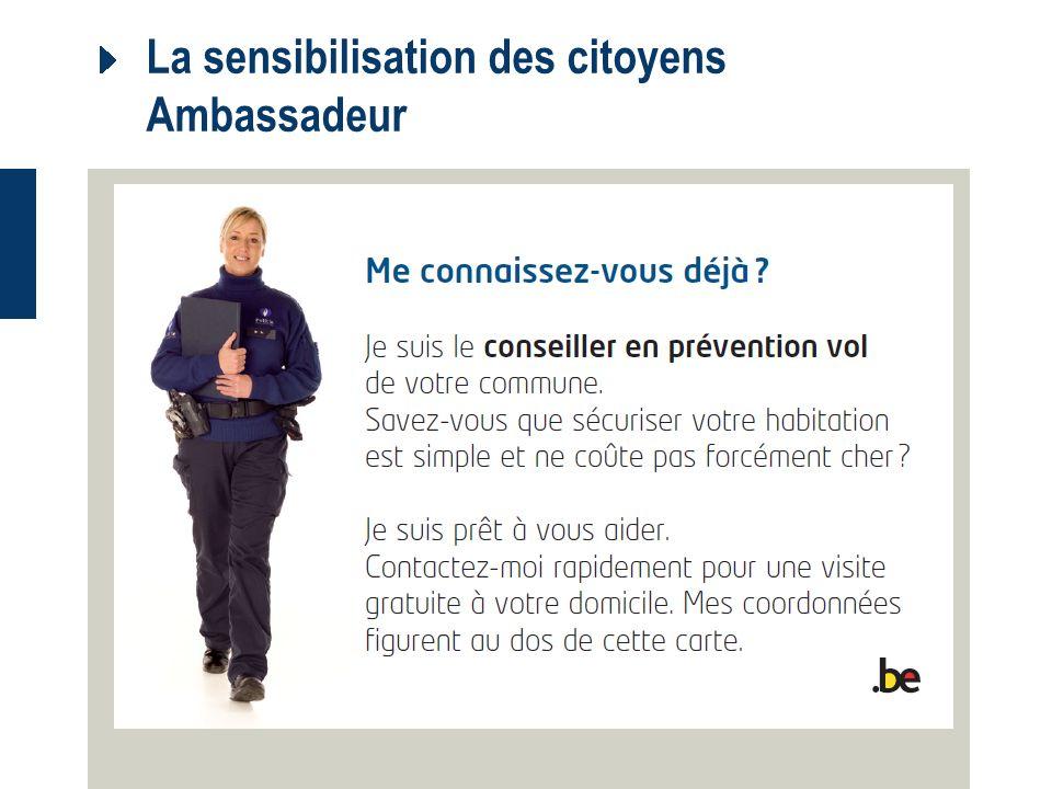 La sensibilisation des citoyens Ambassadeur