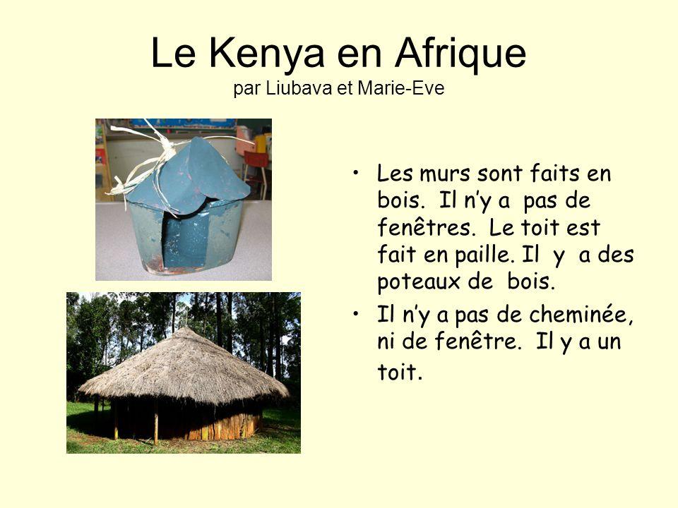 Le Kenya en Afrique par Liubava et Marie-Eve