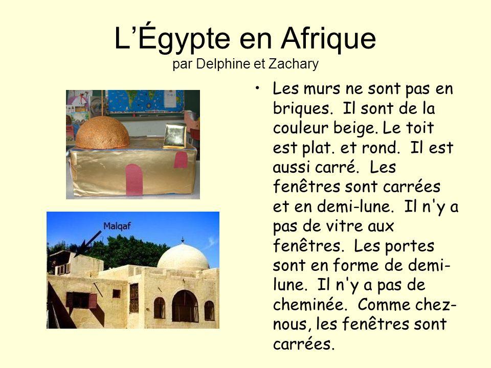 L'Égypte en Afrique par Delphine et Zachary